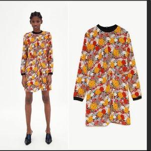 NWT Zara floral mini dress